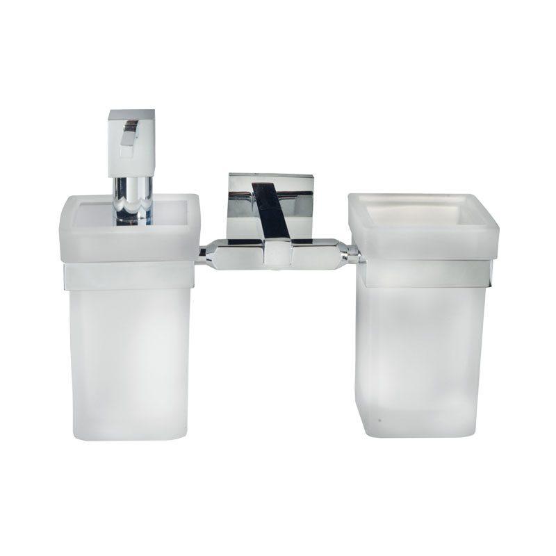 Dosatore - Porta spazzolini vetro