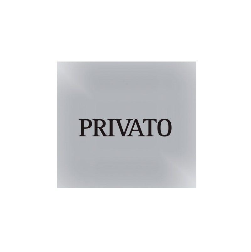"""pittogramma """"privato"""" in alluminio con serigrafia (biadesivo incluso)"""