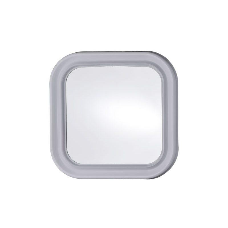 specchio quadro con cornice in plastica bianca spessore 35mm