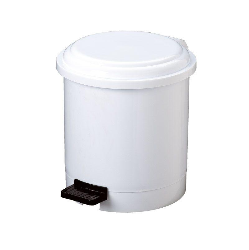 cestino getta carta con pedale 3 LT in ABS bianco