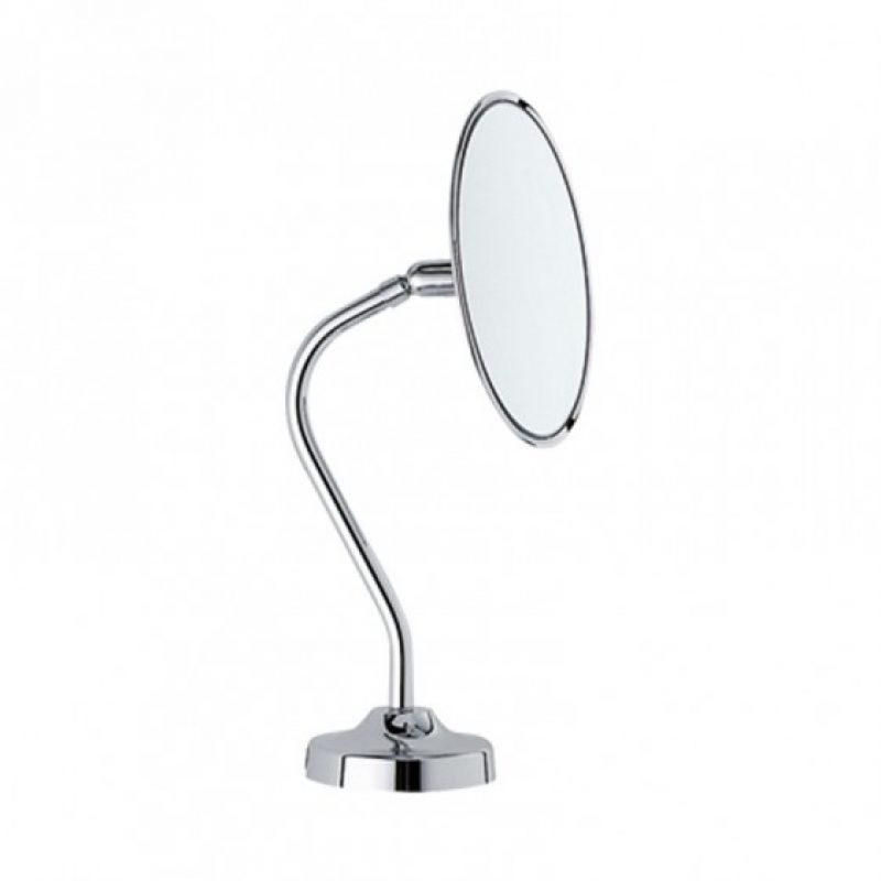specchio ingranditore tondo appoggio - stelo curvo